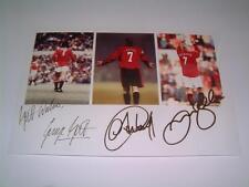 Manchester United FC George Best Eric Cantona David Beckham Signed Reprint Photo