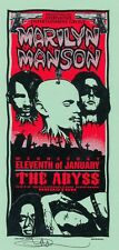 MINT & SIGNED Marilyn Manson 1995 Abyss Houston Arminski Handbill
