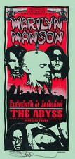 MINT & SIGNED Marilyn Manson 1995 Abyss Houston Arminski Handbill