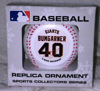 SF SAN FRANCISCO GIANTS MADISON BUMGARNER #40 BASEBALL CHRISTMAS ORNAMENT NEW