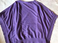Ralph Lauren Sport Women's Purple Poncho Sweater Cotton Cardigan Wrap Sz XS