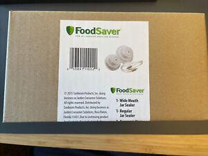 FoodSaver Regular + Wide-Mouth Jar Sealer Kit and Accessory Hose White *NEW*