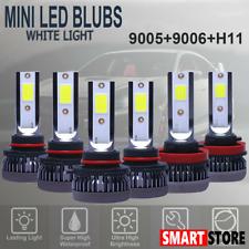 9005 9006 H11 Combo COB LED Headlight Fog Lamp Bulb White 6000K High Low Beam US