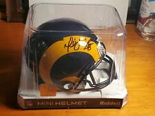 Marshall Faulk Signed AUTO AUTOGRAPH Mini Helmet Throwback Rams Tristar Nice!!