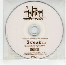 (GJ296) Fighting With Wire, Sugar - 2009 DJ CD