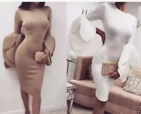 long sleeve With Flare BodyCon dress
