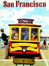 ADVERT TRAVEL SAN FRANCISCO CABLE CAR ART POSTER PRINT LV297