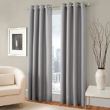 """2 GROMMET PANEL TEXTURE WINDOW CURTAINS  FOAM LINED 99% BLACKOUT THERMAL K34 63"""""""