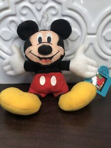 Vintage Applause Mickey Mouse Bean Bag Plush NEW W/TAGS