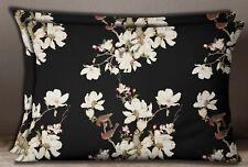 S4Sassy Floral & Bird Print Rectangle 2 Pcs Home Decorative Sofa Pillow Sham
