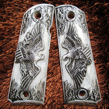NEW RESIN GRIPS TWIN EAGLES PEARL STYLE FOR COLT 1911, CLONE, KIMBER FULL SIZE