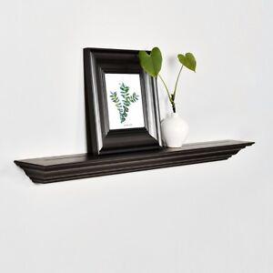 "24"" Corona Crown Molding Design Floating Wall Shelf, Art WELLAND"