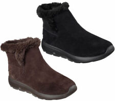 Suede Regular Size Mid-Calf Boots for Women