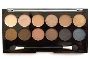 MUA *UNDRESSED* 12 EYESHADOW PALETTE Nude Neutral Matte Shimmer NUDES TO BROWNS