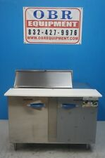 New Traulsen 48� 2 Section 14 Cu.Ft. Refrigerated Prep Table Model Upt-488-Lr