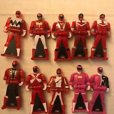 Power Rangers Key Super Megaforce Red and Pink figure Lot