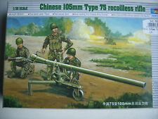 Trumpeter 752303 Chinese 105 mm Type 75 recoilless rifle WWII Figurensatz - 1:35