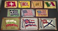 Circa 1910 Felt Flag Tobacco Premium Collection ~ 10 Pcs. Lg. & Sm. ~ Excellent!