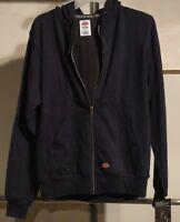 DICKIES Mens TW382 Thermal Lined Fleece Hoodie Jacket DARK NAVY  L, LARGE NWT