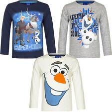NUEVO Camisa Niñas Camisa De Jersey Frozen Reina De Hielo 98 104 110 116 #144