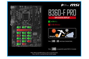 MSI B360-F Pro 6/12/18 PCI-E PCIE GPU Expert Mining Motherboard B360F AU Stock