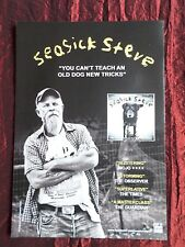 SEASICK STEVE  MAGAZINE CLIPPING / CUTTING 1 PAGE ADVERT