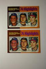 Rare Lot 2 Nolan Ryan 1975 Baseball Cards Dark Brown + Light Brown Varieties