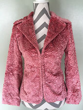 TOMMY HILFIGER Jeans Pink Plush Soft Fleece Blazer Coat Jacket Size M Medium