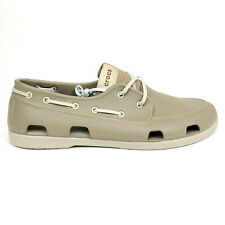 Crocs Mens 13 Classic Boat Shoes Khaki Cobblestone Brown Tan