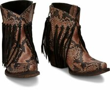 "Tony Lama Anahi 6"" Taupe Python  Cowgirl Boot VF6041 size 8"