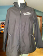 Lincoln Aviator Black Women's Vintage Jacket Size M Elevate Brand Rare 2005-2011