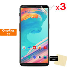 3 Pack of Clear LCD Screen Protector Cover Guards for OnePlus 5t (one Plus 5t)