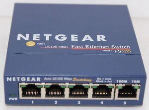 NETGEAR ProSafe FS105 10/100 Desktop Switch - switch - 5 ports (FOR PARTS)