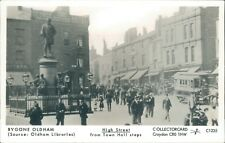 Postcard unposted Lancashire Oldham real photo Repro run High street