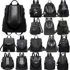 Women's BLACK Backpack Anti-theft Travel Shoulder Bag School Handbag Rucksack
