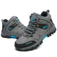 Men Boots Lace Up Man Ankle Waterproof Big Size Hiking Shoes Athletic Shoes new