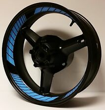 COOL LIGHT BLUE CUSTOM INNER RIM DECALS WHEEL STICKERS STRIPES TAPE GRAPHICS