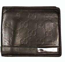 78426edcfb12 GREAT $500 Gucci!! LARGE ID Wallet black puff web Metal Bar GG 100%