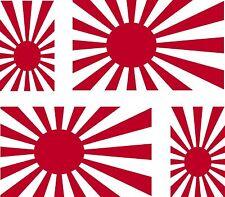 4x sticker Adesivo Adesivi decal decals Vinyl auto moto bandiera Giappone guerra