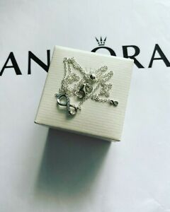 Pandora Silver Sparkling Infinity Collier Necklace Size - 50 (ALE S925)