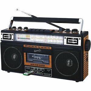 SUPERSONIC SC-3201BT-WD 4 Band Cassette Radio (White)