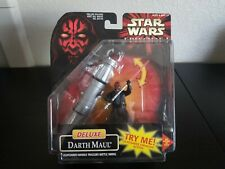 Hasbro Deluxe Darth Maul w/ Lightsaber Swinging Action Great Condition
