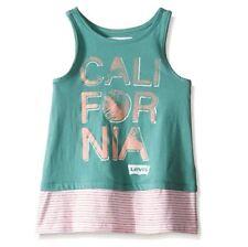 Levi's Girls' Cotton Sleeveless Knit Tank - California - Small