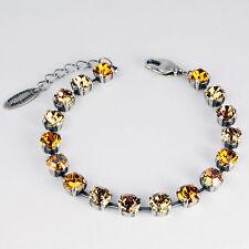 Grevenkämper Armband Swarovski Kristall Tennis gold braun Topaz Crystal Copper