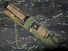 1985 Gerber Guardian II Black Combat Survival Knife original Camouflage Sheath
