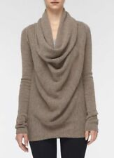Vince Women's Sweater Small Petite Cowl Neck Draped Front Wool Alpaca Pullover