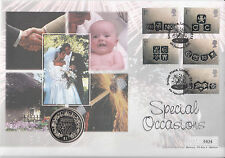 2001 Special Occasions Full Set .Liberia $1 Coin First Day Cover