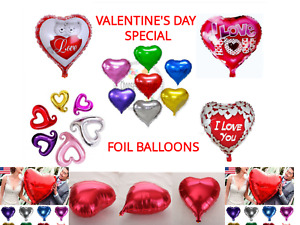 Valentines Day Large Heart Foil Helium Balloons Decor Wedding Party Girlfriend