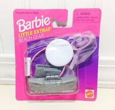 Barbie Little Extras Beach Gear Accessory Pack Boom Box Frisbee Snorkel Hat NEW!