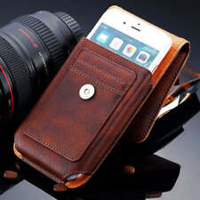 New Outdoor Leather Button Holster Belt Clip Pouch Case For iPhone Samsung Phone